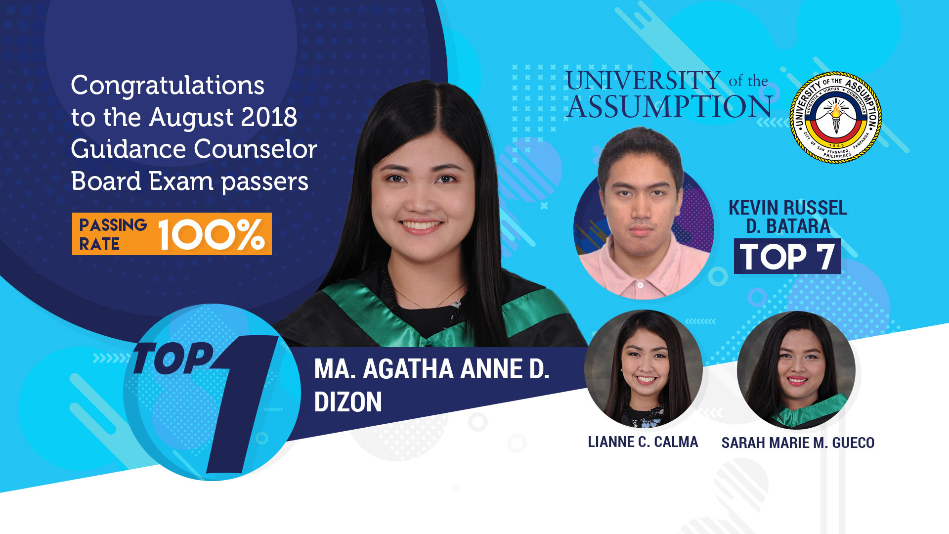 University Of The Assumption Two Ua Alumni Top August 2018